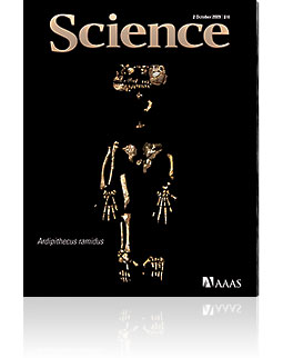 October 2nd Issue of Science Featuring Ardipithecus ramidus